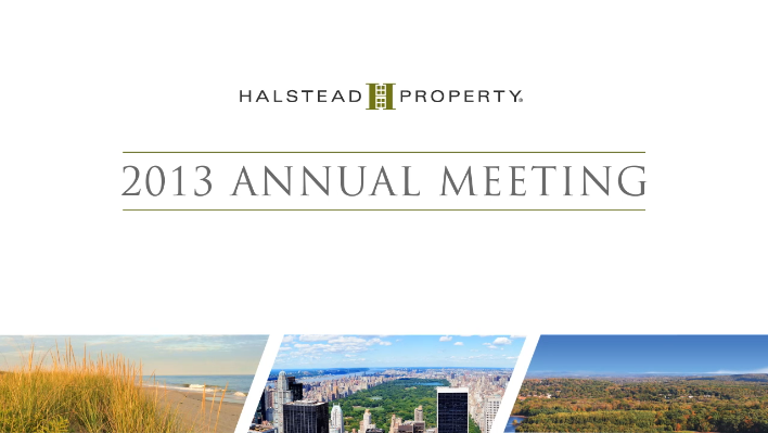 Halstead Property 2013 Annual Meeting Awards