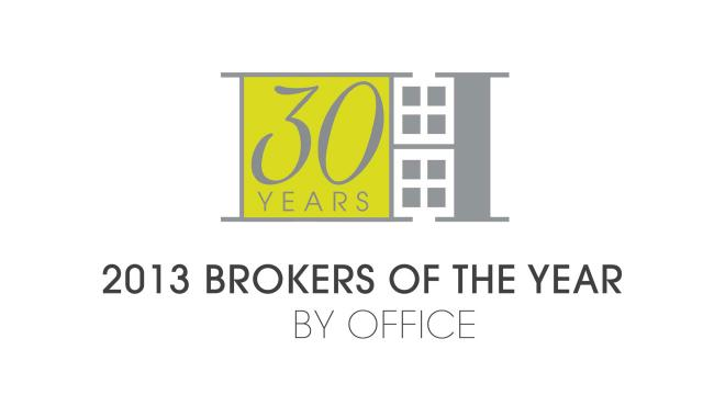 2013 Brokers of the Year By Office