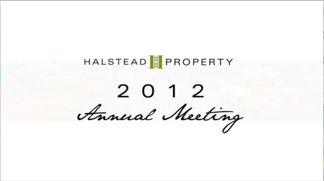 Halstead Property Annual Meeting 2012
